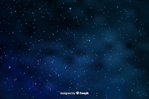 Sfondo sfumato notte stellata affollata