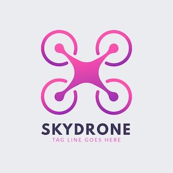 Modello di logo drone gradiente