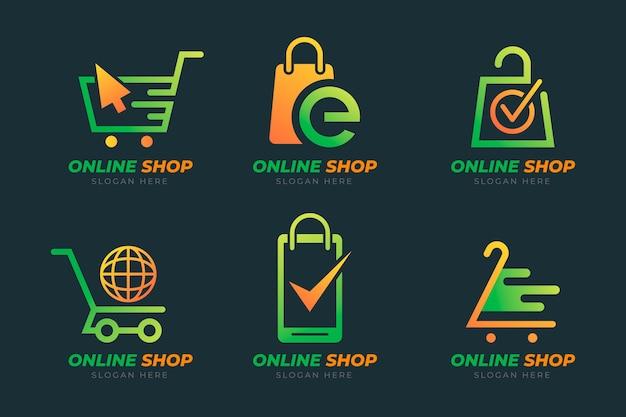 Pacchetto loghi e-commerce sfumati
