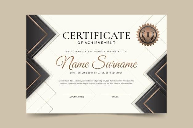 Gradiente elegante certificato di modello di realizzazione