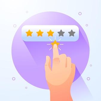 Illustrazione di concetto di feedback gradiente