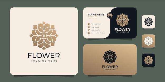 Design del logo del fiore sfumato