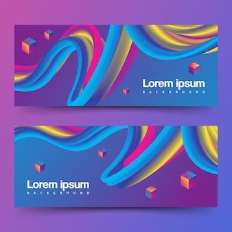 Banner di onda fluente gradiente
