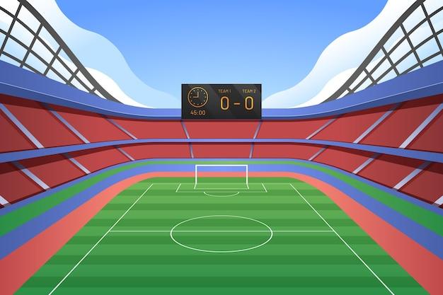 Sfondo del campo di calcio sfumato