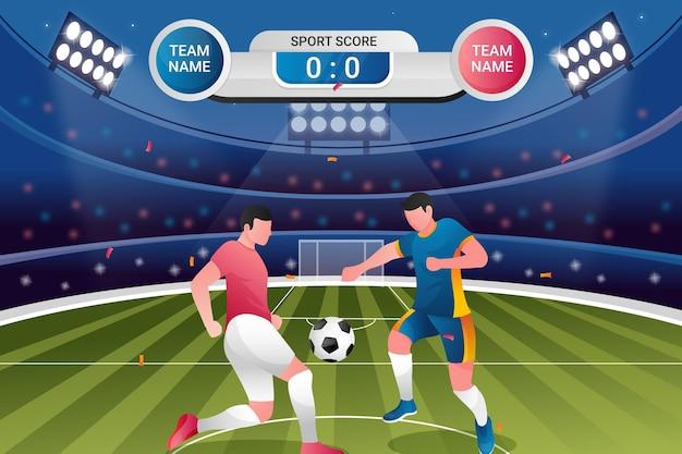 Illustrazione del torneo di calcio sfumato