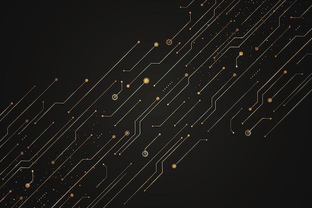Sfondo del circuito futuristico sfumato