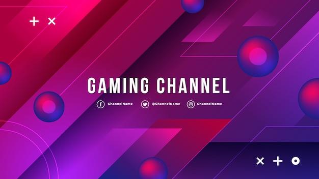 Grafica del canale di youtube per giochi a gradiente