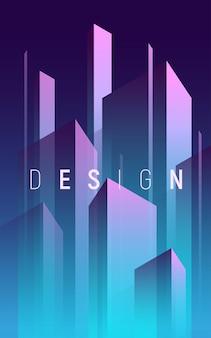Sfondo astratto geometrico sfumato, copertina minima colorata