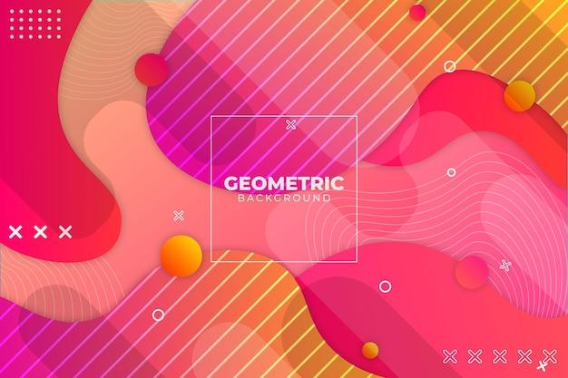 Sfondo geometrico sfumato rosa e arancione