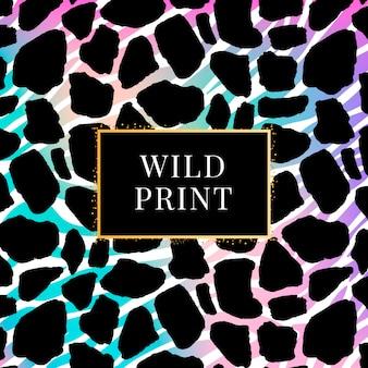 Modello dalmata giraffa gradiente, stampa animalier