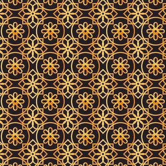Modello arabo dorato sfumato