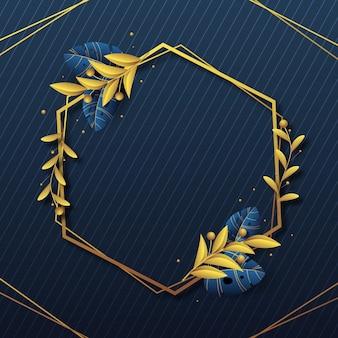 Cornice di lusso dorata sfumata Vettore Premium