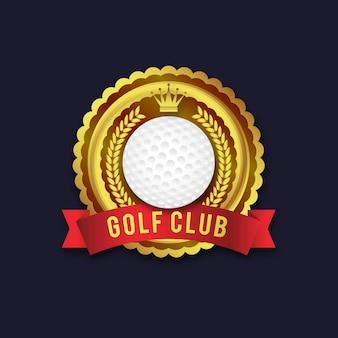 Modello di logo di golf gradiente