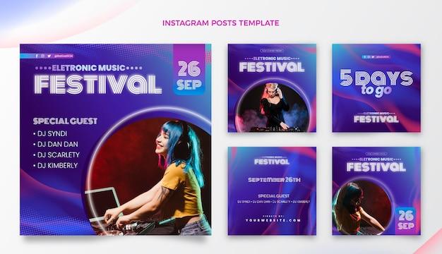 Festival di musica con mezzitoni sfumati ig post