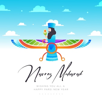 Gradiente felice anno nuovo parsi illustrazione gradient