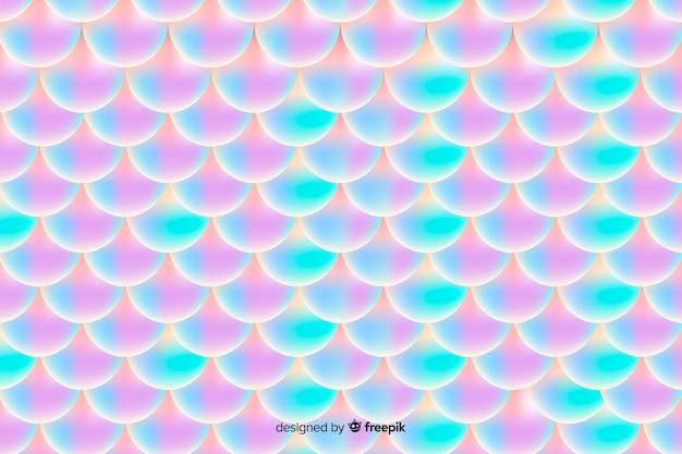 Motivo a coda di sirena olografica gradiente