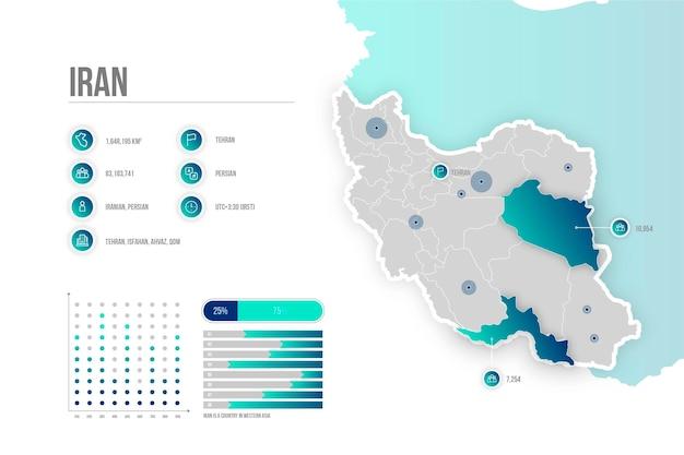 Gradiente iran mappa infografica