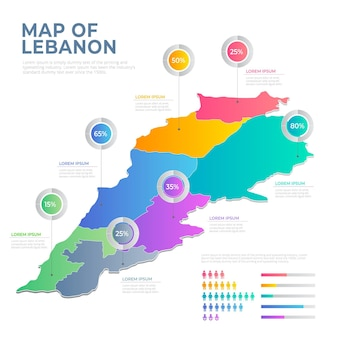Gradiente mappa del libano divisa