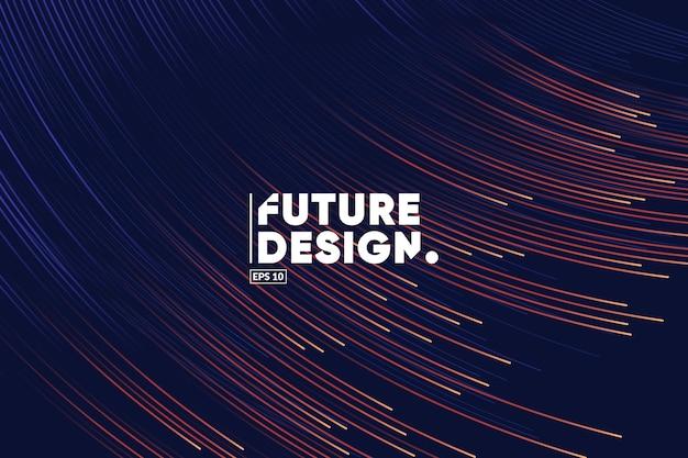 Sfondo di composizione di linee sfumate. futuro, tecnologia, big data, modello di tema della scienza.