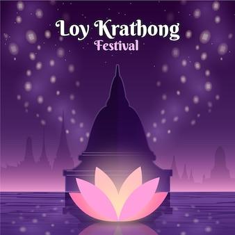 Gradiente loy krathong concept