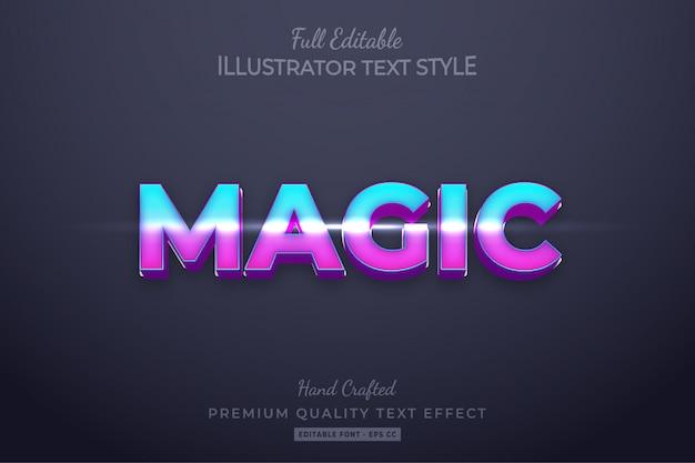 Effetto di stile di testo modificabile magico gradiente premium