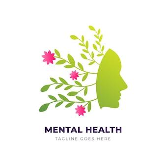 Modello di logo di salute mentale gradiente