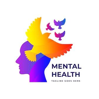 Gradiente logo di salute mentale
