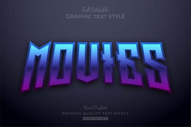 Stile carattere modificabile per effetti di testo con gradiente