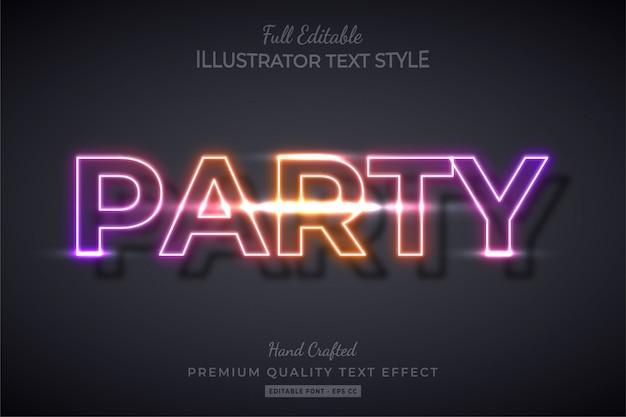 Effetto stile testo modificabile a gradiente party premium