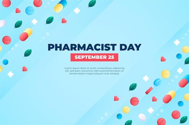 Sfondo del giorno del farmacista sfumato