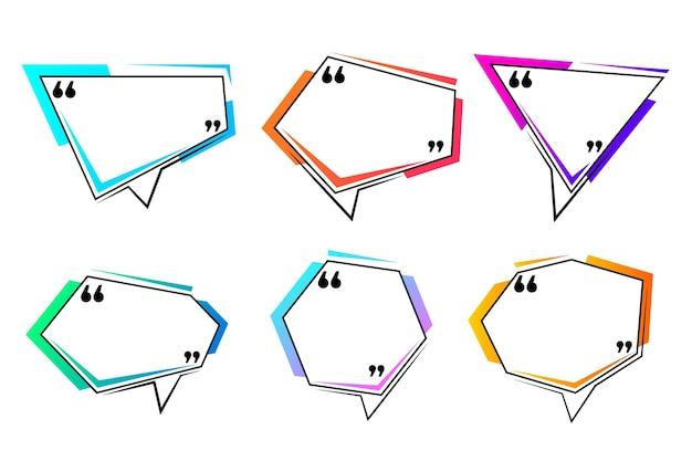 Collezione di cornici per scatole con citazione gradiente