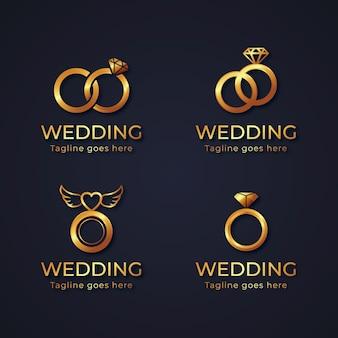 Collezione di modelli di logo anello sfumato