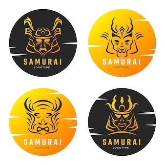Collezione logo samurai sfumato