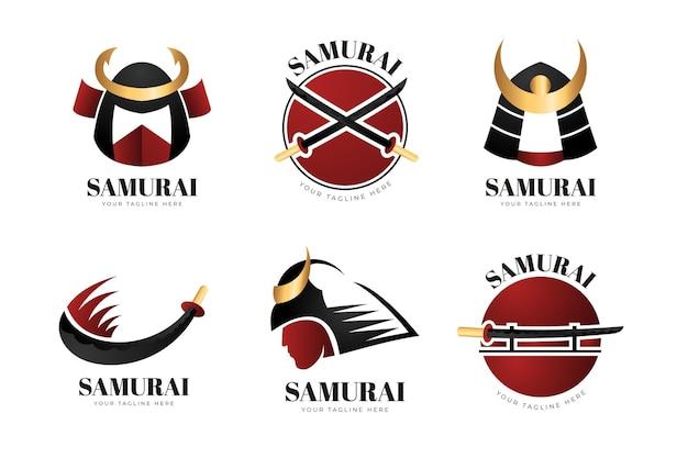 Pacchetto logo samurai sfumato