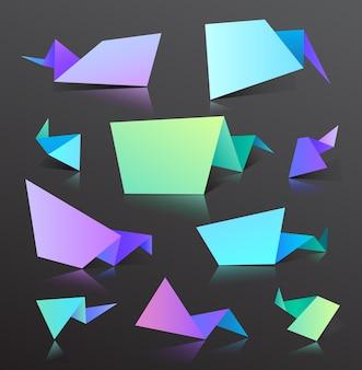 Punti sfumati, bolle impostate con forme di linea. elementi astratti per colori vivaci alla moda. utilizzare per loghi, tag, etichette, sfondo. macchie fluide, gocce ondulate, elementi fluenti.