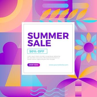 Illustrazione di vendita estiva gradiente