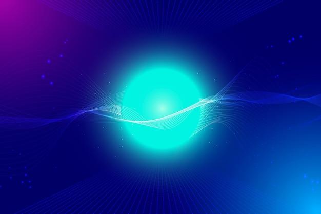 Fondo blu della sfera di tecnologia di pendenza