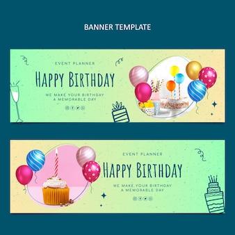 Banner di compleanno a trama sfumata