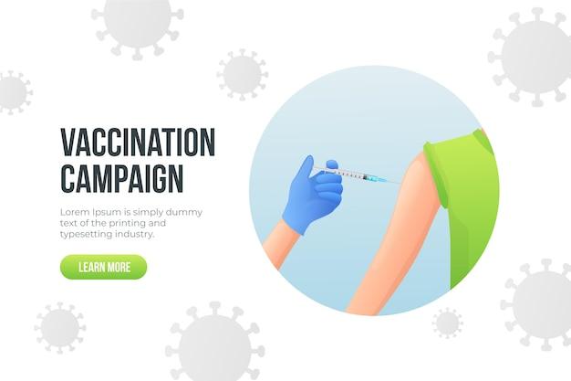 Modello di campagna di vaccinazione gradiente