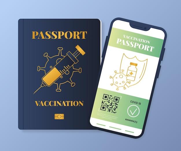 Passaporto di vaccinazione gradiente