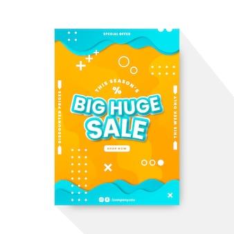 Modello di poster di vendita verticale sfumato