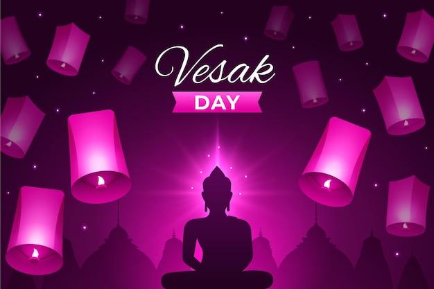 Illustrazione di giorno di vesak gradiente