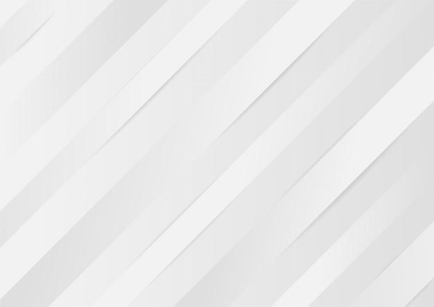 Gradiente bianco e grigio astratto elegante trama sfondo linee lucide.