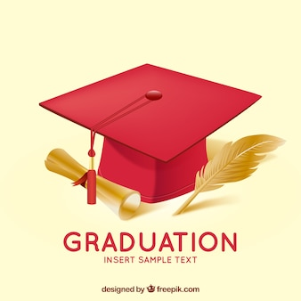 Sfondo di laurea con mortarboard