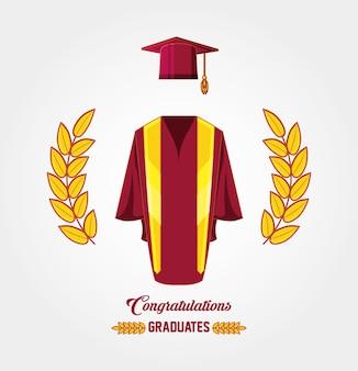 Carta di laurea con l'uniforme della tuta
