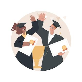 Illustrazione di laurea