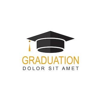 Vettore di progettazione del modello di logo di laurea