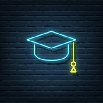 Elementi di insegna al neon di laurea