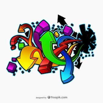 Frecce graffiti vettore Vettore Premium