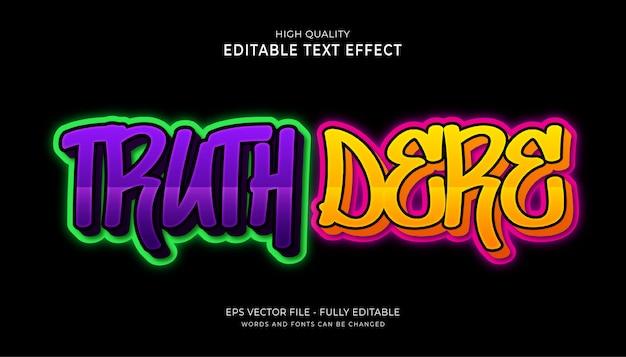 Effetto di testo modificabile dei graffiti.